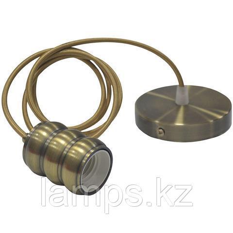 Декоративный патрон Е27 GAUSS античная бронза 1M