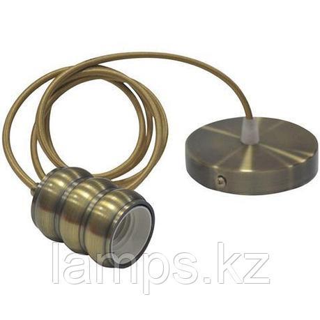 Декоративный патрон Е27 GAUSS античная бронза 1M , фото 2