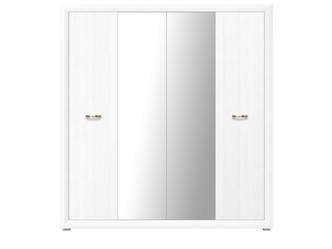 Шкаф для одежды 4Д , коллекции Мальта, Лиственница сибирская, БРВ Брест (Беларусь)