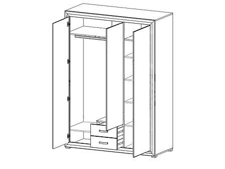 Шкаф для одежды 3Д , коллекции Мальта, Лиственница сибирская, БРВ Брест (Беларусь), фото 2