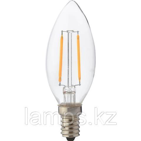 Светодиодная Лампа Эдисона декоративная FILAMENT CANDLE-2 2W 4200K