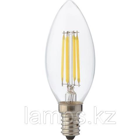 Светодиодная Лампа Эдисона декоративная FILAMENT CANDLE-4 4W 2700K