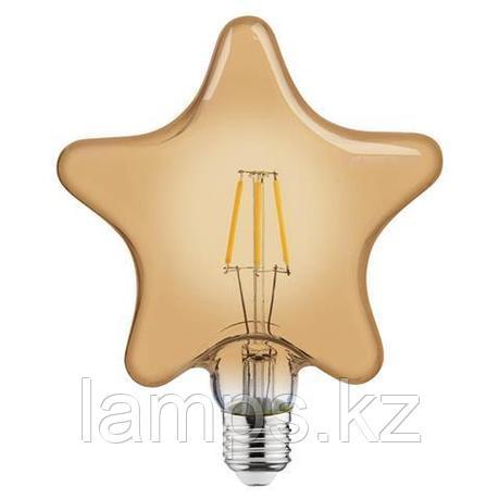 Светодиодная Лампа Эдисона декоративная RUSTIC STAR-6 6W 2200K , фото 2