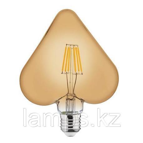 Светодиодная Лампа Эдисона декоративная RUSTIC HEART-6 6W 2200K , фото 2