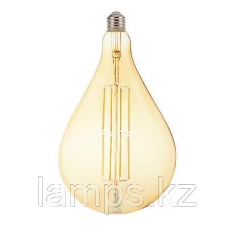 Светодиодная Лампа Эдисона декоративная TOLEDO 8W янтарь, фото 2