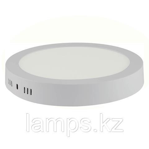 Панель светодиодная накладная круглая CAROLINE-18 18W белый 6000K