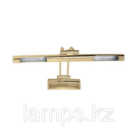 Светильник светодиодный для подсветки зеркала KUMRU золото, с встроенным электронным трансформатором, фото 2