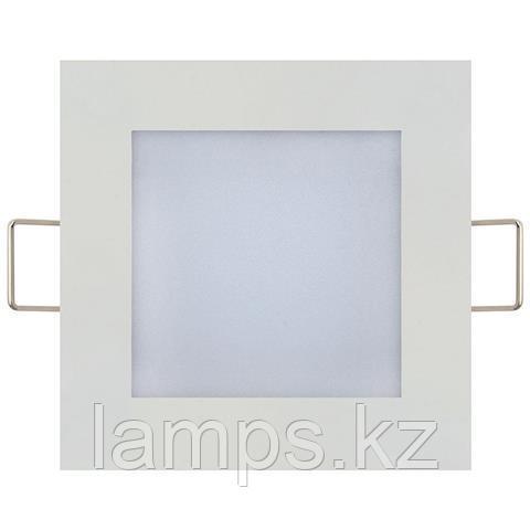 LED панель светодиодная квадратная 113,5x113,5 SLIM/Sq-6 6W 2700K