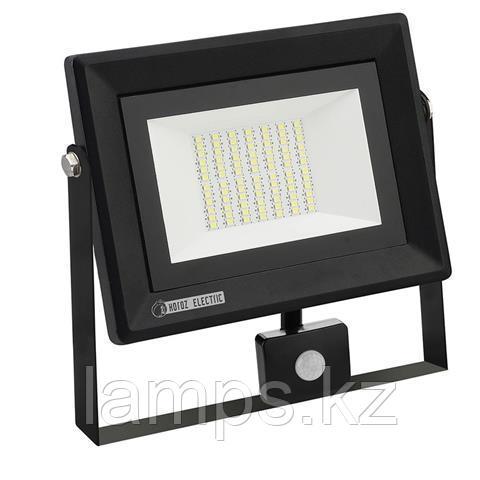 Прожектор герметичный светодиодный c датчиком движения PARS/S-50 50W черный 6400K