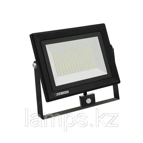 Прожектор герметичный светодиодный c датчиком движения PARS/S-100 100W черный 6400K