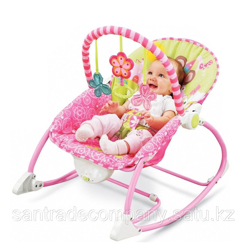 Шезлонг-качалка  Fisher Price  (вибро,мелодия от игрушки)3 положения