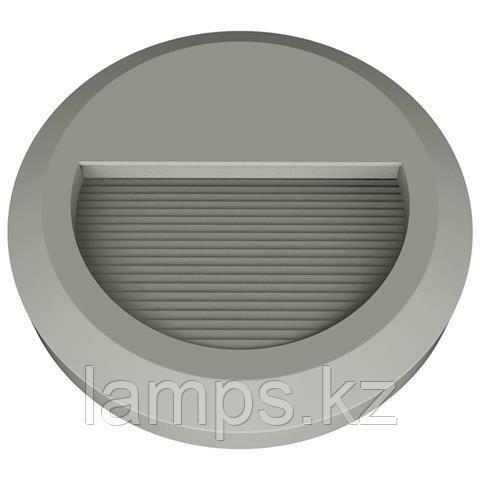 Уличный настенный светодиодный светильник, пылевлагозащищенный IHLAMUR 2W темно серый 4200K
