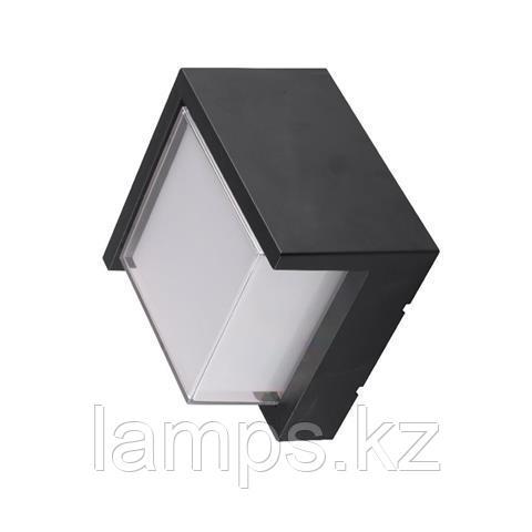 Уличный настенный светодиодный светильник, пылевлагозащищенный SUGA-12/SC 12W черный 4200K