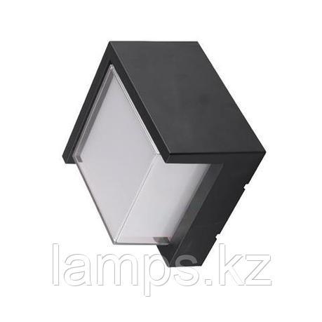Уличный настенный светодиодный светильник, пылевлагозащищенный SUGA-12/SC 12W черный 4200K , фото 2