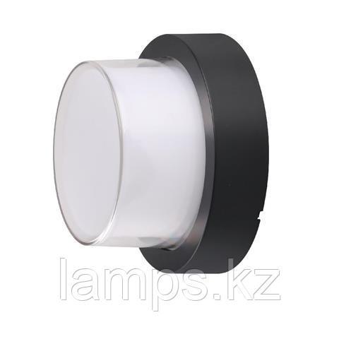 Уличный настенный светодиодный светильник, пылевлагозащищенный SUGA-12/RO 12W черный 4200K