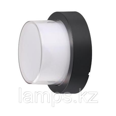 Уличный настенный светодиодный светильник, пылевлагозащищенный SUGA-12/RO 12W черный 4200K, фото 2