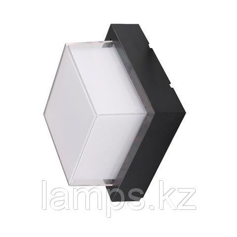 Уличный настенный светодиодный светильник, пылевлагозащищенный SUGA-12/SO 12W черный 4200K