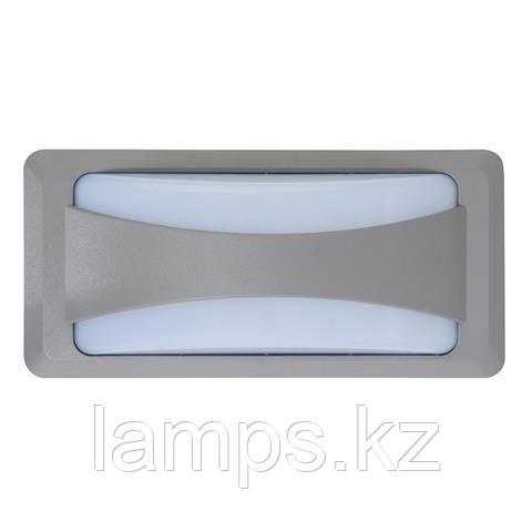 Уличный настенный светодиодный светильник, пылевлагозащищенный SUSAM 12W темно-серый 4200K