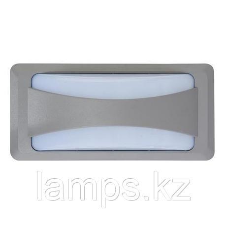 Уличный настенный светодиодный светильник, пылевлагозащищенный SUSAM 12W темно-серый 4200K, фото 2