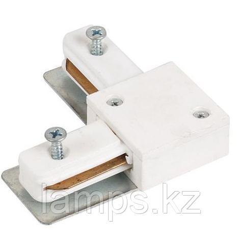 Коннектор (соединитель) угловой для шинопровода белый L, фото 2