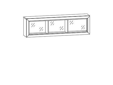 Шкаф для книг навесной 1Д , коллекции Коен, Венге Магия, БРВ Брест (Беларусь), фото 2