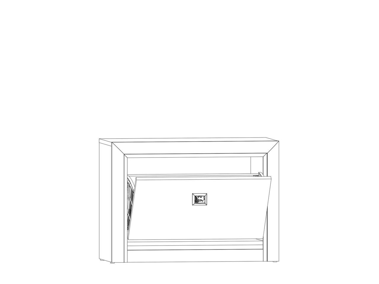 Тумба для обуви 1Д, коллекции Коен МДФ, Штрокс Темный, БРВ Брест (Беларусь)