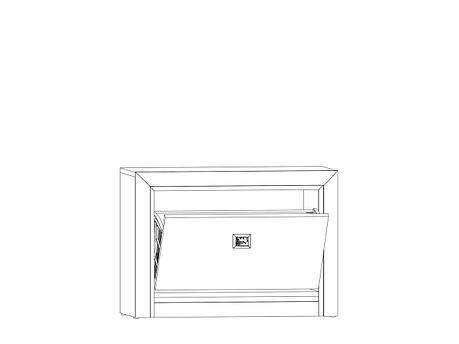 Тумба для обуви 1Д, коллекции Коен МДФ, Штрокс Темный, БРВ Брест (Беларусь), фото 2