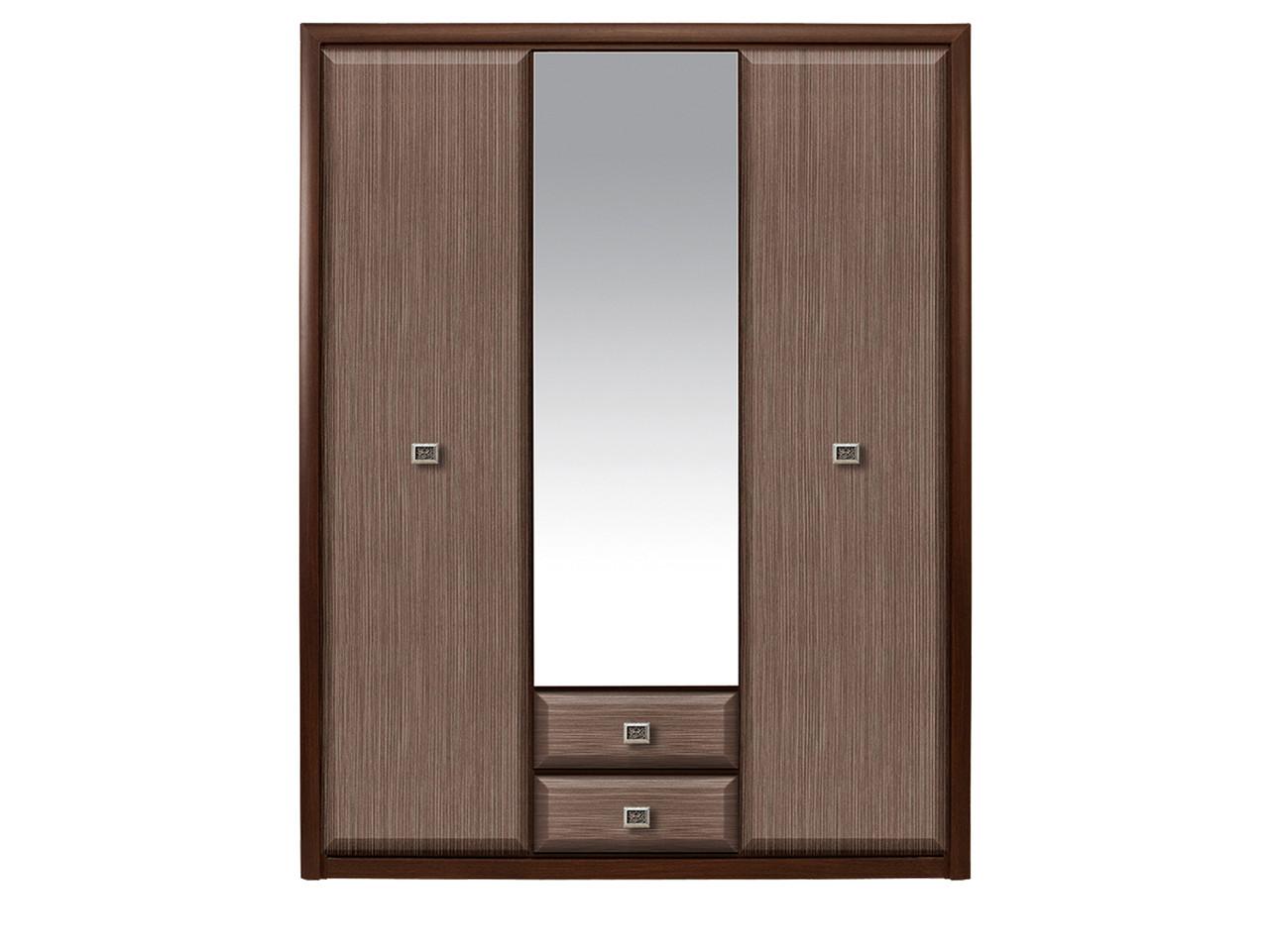 Шкаф для одежды 3Д , коллекции Коен МДФ, Штрокс Темный, БРВ Брест (Беларусь)