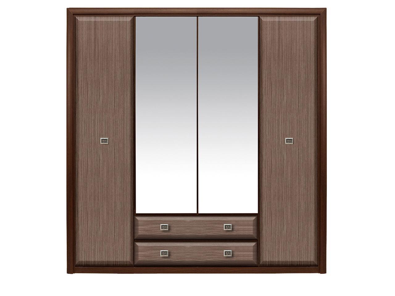 Шкаф для одежды 4Д , коллекции Коен МДФ, Штрокс Темный, БРВ Брест (Беларусь)