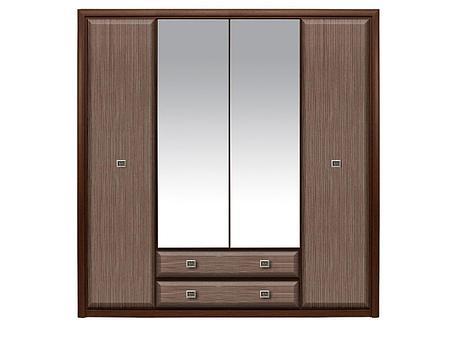 Шкаф для одежды 4Д , коллекции Коен МДФ, Штрокс Темный, БРВ Брест (Беларусь), фото 2