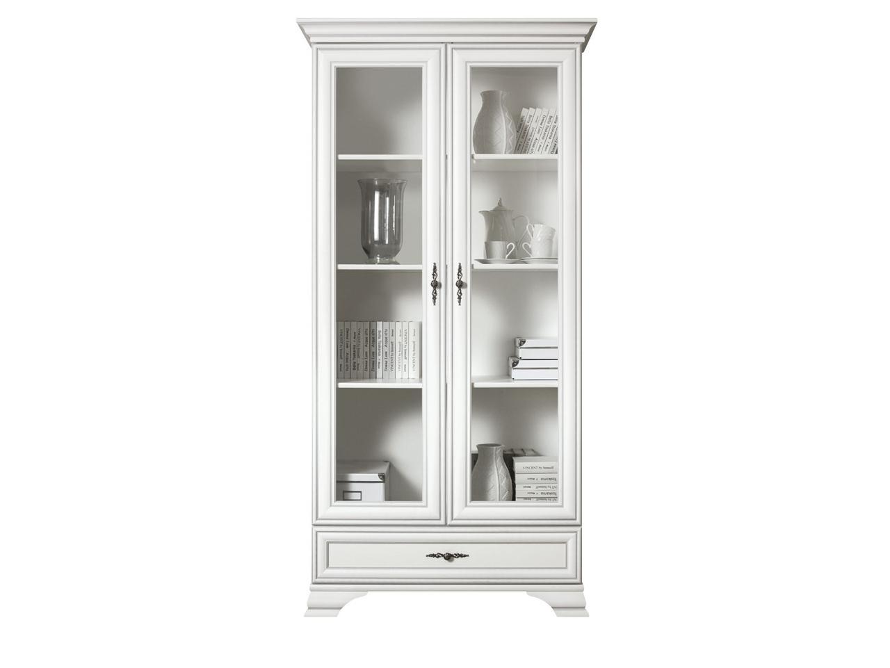 Шкаф витрина 2Д , коллекции Кентаки, Белый, БРВ Брест (Беларусь)
