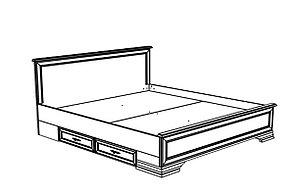 Кровать двуспальная, коллекции Кентаки, Белый, БРВ Брест (Беларусь), фото 2