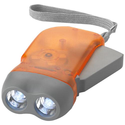 Фонарь   с динамо-машиной   Оранжевый