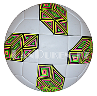 Футбольный мяч  GF-2019-12 белый с разноцветным шестиугольником, фото 1