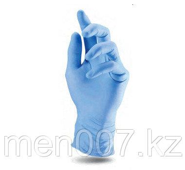 Перчатки нестерильные нитриловые (100 штук) голубые