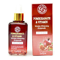 Сыворотка для лица Leiya Pomegranate & Vitamin Wrinkle Whitening Ampoule All-in-One 100ml.