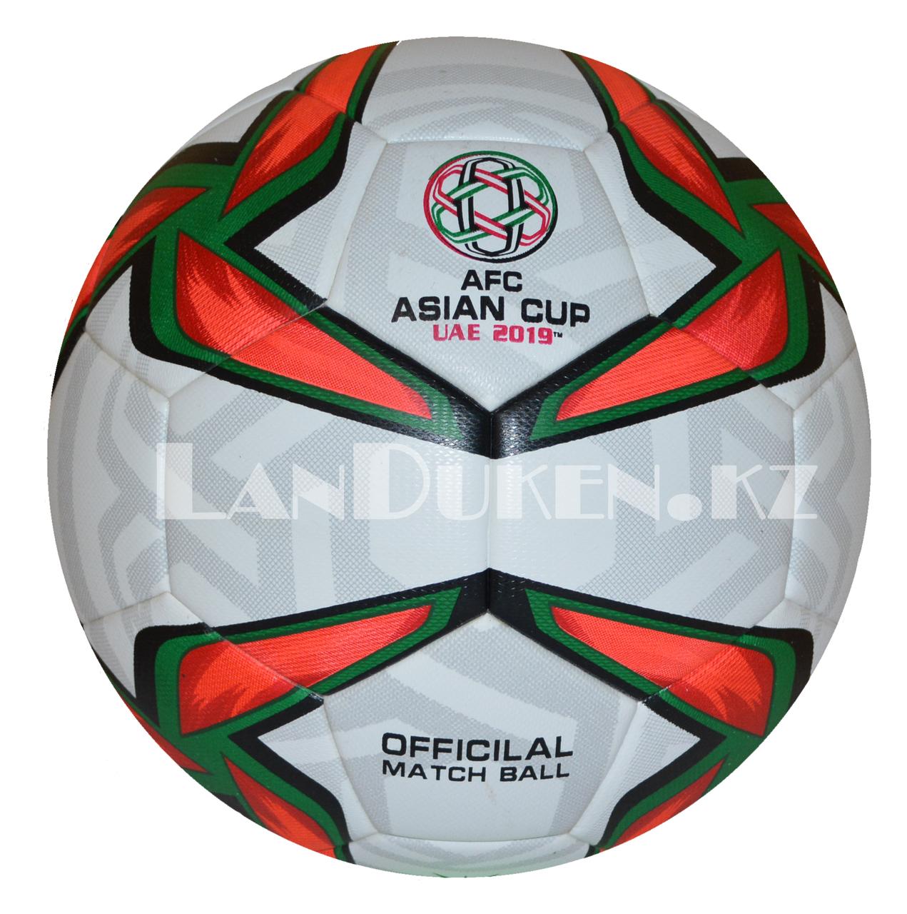 """Футбольный мяч """"Asian cup UAE 2019"""" , белый с зелено-красным узором"""