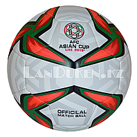 """Футбольный мяч """"Asian cup UAE 2019"""" , белый с зелено-красным узором, фото 1"""