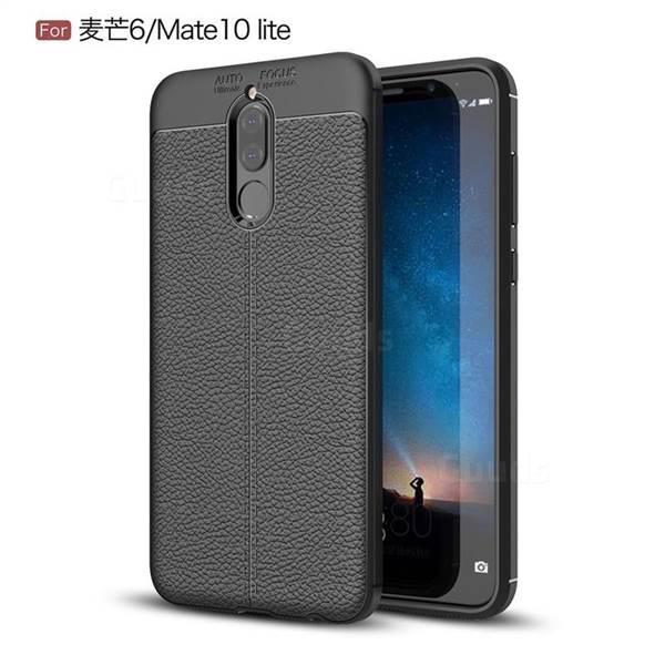 Силиконовый чехол Auto Focus Leather case для Huawei Mate 10 Lite (черный)