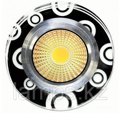 Спот встраиваемый светодиодный LED HH-ZQQ Круглый Black White