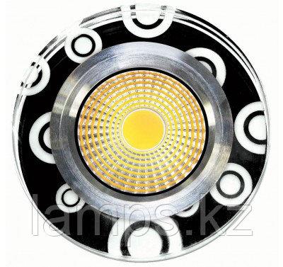 Спот встраиваемый светодиодный LED HH-ZQQ Круглый Black White , фото 2