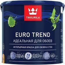 Краска для обоев и стен EURO TREND A мат 9 л
