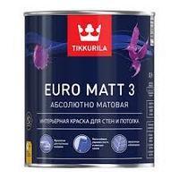Краска интерьерная EURO MATT 3С  гл/мат 2,7л