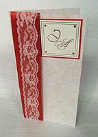 Свадебные пригласительные в красно-золотистом стиле, фото 1