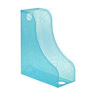 Лоток вертикальный СТАММ для папок, тонированный голубой