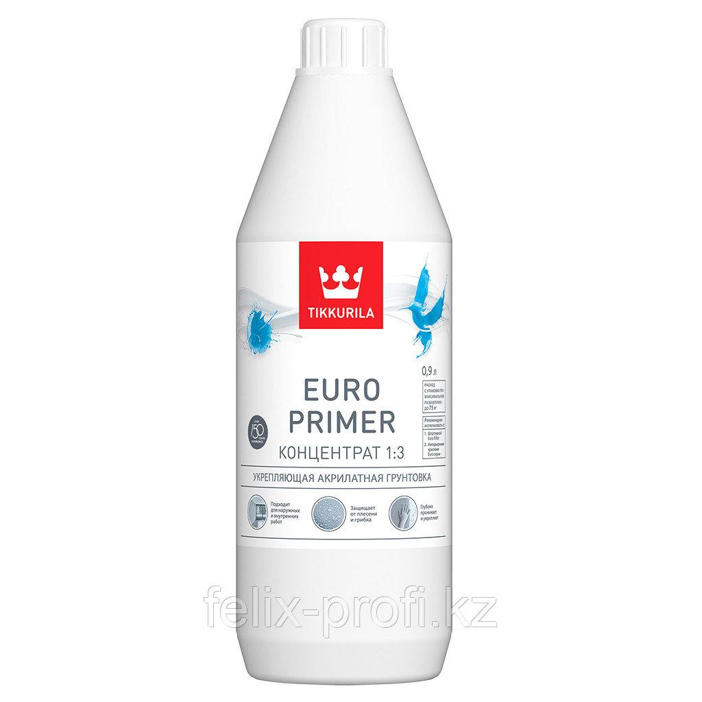 Укрепляющая акрилатная грунтовка Euro Primer 0,9 л