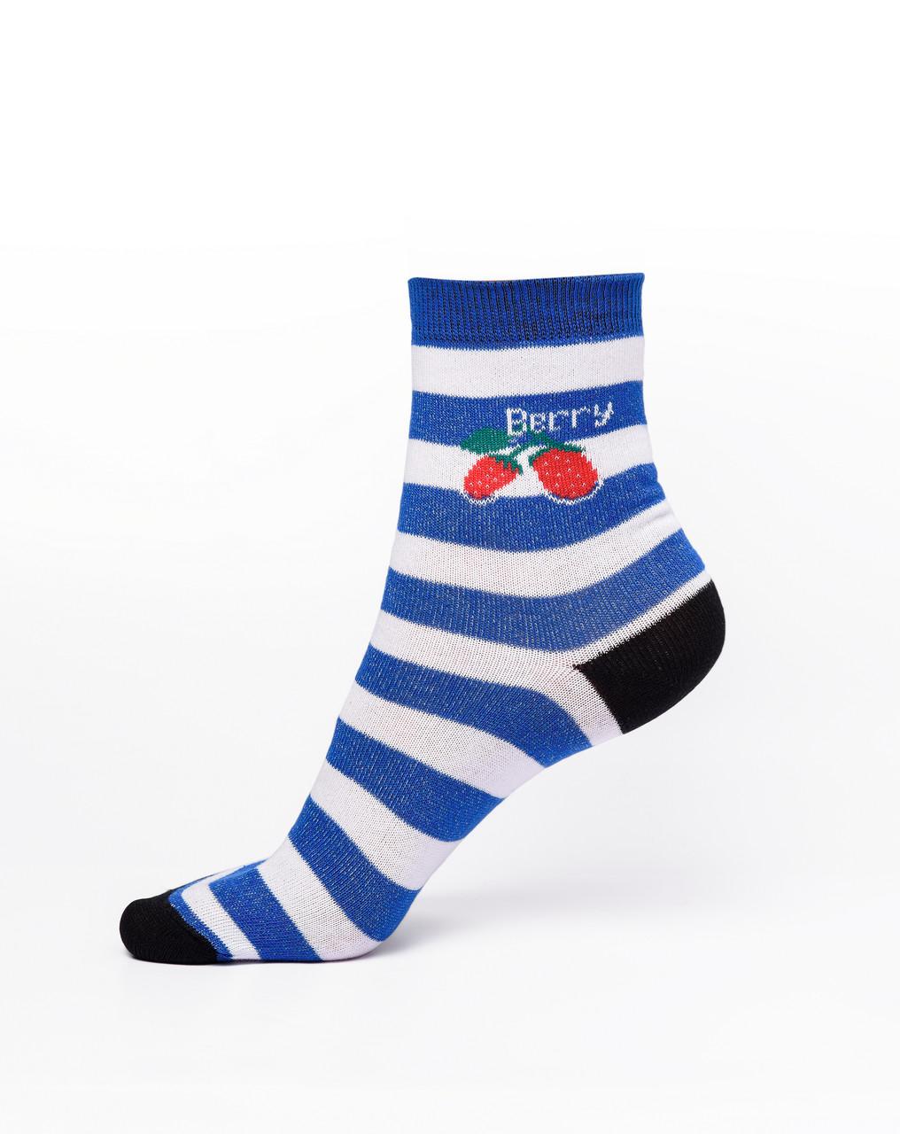 Женские носки в полоску,синие