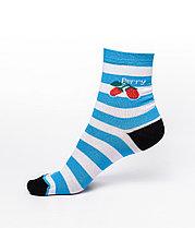 Женские носки в полоску, голубые
