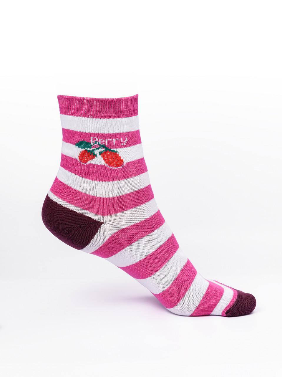 Женские носки в полоску, розовые