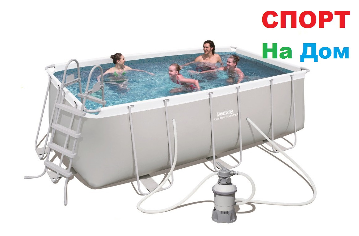 Каркасный бассейн Bestwey 56457 (412 х 201 х 122 см, на 8703 литра)